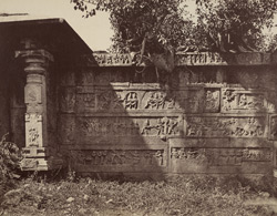 Beejanuggur. Sculptured enclosure of temple. [Ramachandra Temple, Vijayanagara.]